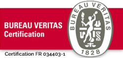 Logo Bureau Veritas - Certification FR 034403-1